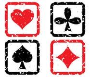 Jogo de cartões de jogo. ilustração do vetor