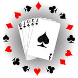Jogo de cartões de jogo Fotos de Stock