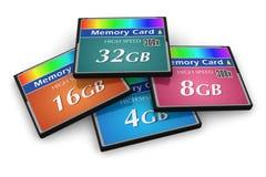 Jogo de cartões de memória de CompactFlash ilustração do vetor