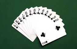 Jogo de cartões do clube Foto de Stock