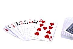 Jogo de cartões do jogo Imagens de Stock