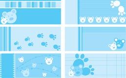 Jogo de cartões do presente do bebê Imagem de Stock
