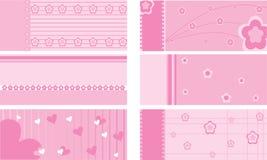 Jogo de cartões do presente do bebê Imagens de Stock