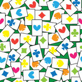 Jogo de cartões do teste padrão sem emenda Imagem de Stock