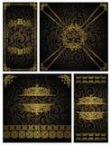 Jogo de cartões do vintage Fotografia de Stock Royalty Free