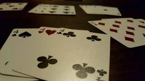 Jogo de cartas do râmi fotografia de stock