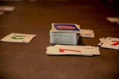 Jogo de cartas em andamento Imagens de Stock Royalty Free