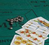 Jogo de cartas espanhol fotografia de stock
