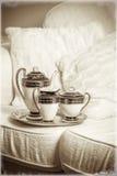 Jogo de chá antigo Fotografia de Stock Royalty Free