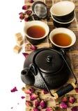 Jogo de chá asiático Imagem de Stock