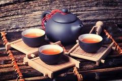 Jogo de chá asiático Imagem de Stock Royalty Free