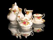 Jogo de chá bonito de fino-China Imagem de Stock Royalty Free