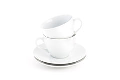 Jogo de chá branco Foto de Stock