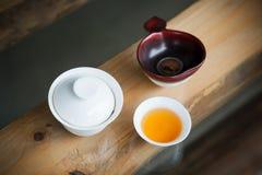 Jogo de chá chinês foto de stock