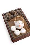 Jogo de chá chinês branco Imagem de Stock Royalty Free