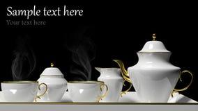 Jogo de chá da porcelana ilustração stock