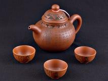 Jogo de chá de Kung Fu Foto de Stock