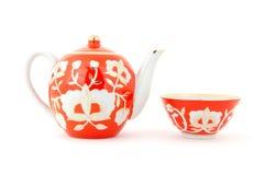 Jogo de chá do Uzbek foto de stock