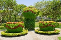 Jogo de chá Floristic fotos de stock royalty free
