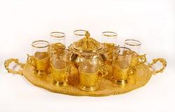 Jogo de chá ornamentado foto de stock royalty free