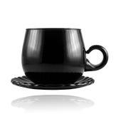 Jogo de chá preto do chiha Imagens de Stock