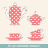 Jogo de chá retro Imagens de Stock Royalty Free