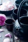 Jogo de chá asiático Foto de Stock Royalty Free