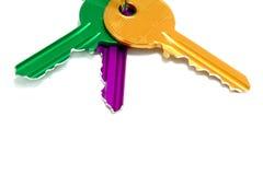 Jogo de chaves coloridas Imagens de Stock Royalty Free