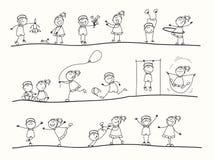 Jogo de Childs ilustração stock
