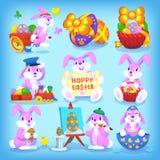 Jogo de coelhos de Easter Fotografia de Stock Royalty Free