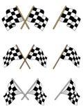 Jogo de competir bandeiras checkered Imagem de Stock Royalty Free