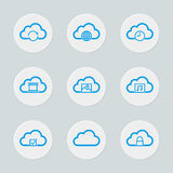 Jogo de computação do ícone da nuvem Foto de Stock Royalty Free