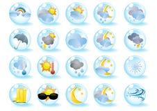 Jogo de ícones do tempo Fotografia de Stock Royalty Free