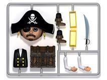 jogo de construção plástico do pirata 3d Fotos de Stock Royalty Free