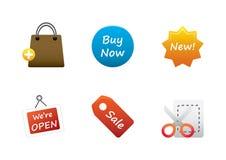 Jogo de cor 9 dos ícones Imagem de Stock