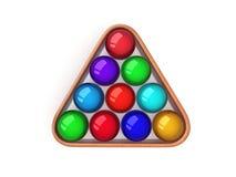 Jogo de cor do bilhar, associação Ilustração do Vetor