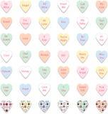 Jogo de corações coloridos da conversação, vetor Imagens de Stock Royalty Free