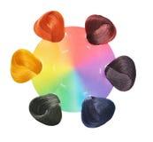 Jogo de cores do cabelo. Imagem de Stock Royalty Free