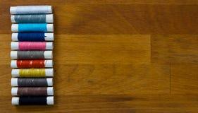 Jogo de costura multicolorido Fotos de Stock Royalty Free