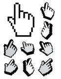 Jogo de cursores do pixel 3d Foto de Stock Royalty Free