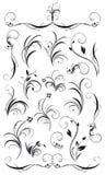 Jogo de decorações florais e de festões Imagem de Stock Royalty Free