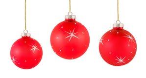 Jogo de decorações do Natal Foto de Stock Royalty Free