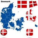 Jogo de Dinamarca. ilustração stock
