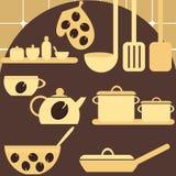 Jogo de dispositivos de cozinha Imagem de Stock