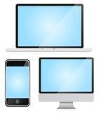 Jogo de dispositivos modernos Fotos de Stock