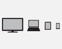 Jogo de dispositivos modernos ilustração stock