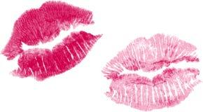 Jogo de dois beijos do batom do vetor Fotografia de Stock