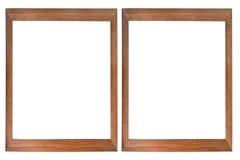 Jogo de dois frames de madeira da foto Imagens de Stock Royalty Free