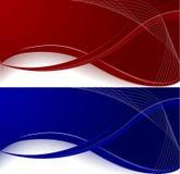 Jogo de duas bandeiras Fotos de Stock Royalty Free
