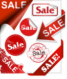 Jogo de duas fitas com as palavras novas e a venda Imagem de Stock Royalty Free